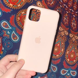 Pink Sand Apple Silicone iPhone 11 Pro Max Case
